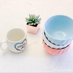 NEW Anthropologie Glazed Latte Bowls w/ Gift Mug